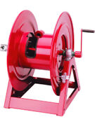 Alemlube 1-1/2 And 1-1/4 125' 49kgs Bare Hand Crank Hose Reel 1185-2028