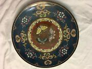 Reduced Price Antique Meiji Style Cloisonne 12 Charger Plate, Antique 320.00
