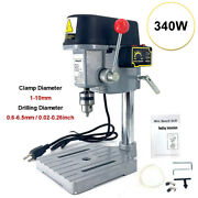Rotary Pillar Drill Press Bench Top Mounted Drilling Machine Speed 1-10mm 340w