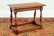 American Joined Oak Low Table In 17th Century Style