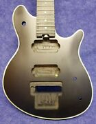 New Unfinished Black Little Guitars Wolfgang Style Stealth Basswood Guitar Usa