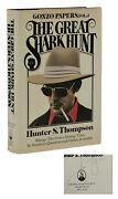 The Great Shark Hunt Hunter S. Thompson Signed First Edition 1st 1979 Gonzo