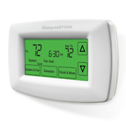 Honeywell Home 7 Day Programmable Thermostats W/ Extra Touchscreen Display White