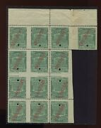 16t42s Western Union Telegraph Tete-beche Gutter Specimen Booklet Pane Of Stamps