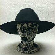 Lack Of Color Hat Black Cowboy Cowgirl Ladies 56cm Small Wool
