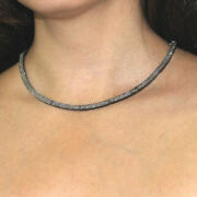 Studded Diamond Collar Tennis Necklace Silver 14k Gold Womenand039s Jewelry Sa