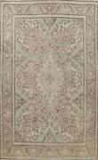 Vintage Muted Traditional Floral Over Size Area Rug Hand-knotted Oriental 11x15