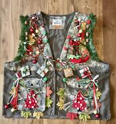 Men's 3xl Lighted Lit Christmas Realtree Camo Hunting Vest Nwt Ugly Sweater Item