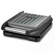 George Foreman Small Grey Steel Grill 25031 Fast And Free Uk Delivery