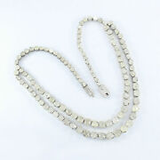 Full Long Polki Diamond Victorian Necklace 925 Silver Jewelry Gift For Her Sa