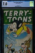 Terry-toons Comics 47 - Cgc-7.0, Cr-ow - Timely - Mighty Mouse