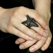 Diamond Pave 925 Sterling Silver Wrap Starfish Ring Fine Jewelry Gift Her Sa