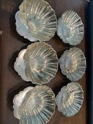 Gorham For Sterling Silver Gold Washed Caviar Nut Clam Shell Bowl