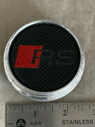 Audi Rs Red Sport Made Of Alloy Wheel Rim Hub Cover Center Cap Push In 2-3/4