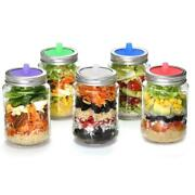 5pcs Waterless Silicone Fermenting Airlock Lids Covers For Wide Mouth Mason Jar