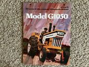 Minneapolis-moline Model G1050 Tractor 8 Pages Sales Brochure