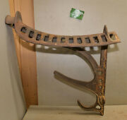 Rare J. W. Fiske Ny Cast Iron Saddle Rack Tack Holder Collectible Stable Tool F1