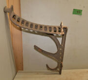 Rare J. W. Fiske Ny Cast Iron Saddle Rack Tack Holder Collectible Stable Tool F2