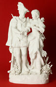 Rudolf Kämmer Porcelain Pair Rococo Hunting, White High Gloss, 14 3/16in