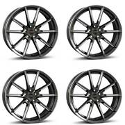 4 Borbet Wheels Lx 8.5x19 Et37 5x108 Grapfp For Land Rover Discovery Freelander