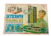 Ideal Toy Skyscraper Building Set 1968 Vtg Box Helicopter Whirling Rotor Playset