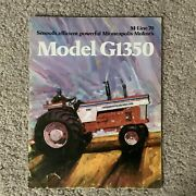 Minneapolis-moline Model G1350 Tractor 12 Pages 1970 Sales Brochure