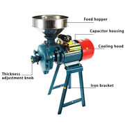 220v 1500w Electric Grinder Dry Feed/flour Mill Cereals Grain Corn Wheat Wetanddry