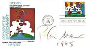 Artist Peter Max Designed Stamp And Signed Expo 74 Fdc Cover Cosmic Pop Art