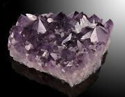 Brazilian Amethyst Slab Displays Nice Large Crystal Terminations, And Calcite