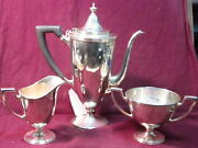 And Co. Sterling 3pc -coffee Set 21204-3571 1045g Mono Hag