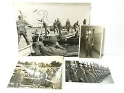 3 X Ww2 German Soldiers Labour Pioneers Original Photographs + 1 Book Plate G3