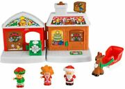 Fisher Price Little People Visit From Santa Christmas Reindeer Sleigh Exclusive