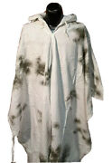 Hunting Winter Camouflage Military Poncho With Hood Surplus Genuine Issue