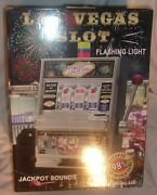 Las Vegas Slot Machine Coin Bank With Light And Sound In Original Box Never Used