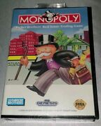 Monopoly Sega Genesis 1992 Factory Sealed Clamshell First Print Brand New Rare