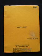 Original Script For Dirty Harry By Hj Fink And Dean Riesner - Clint Eastwood Film