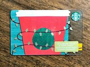 Starbucks Gift Card 2018 Red Cup Gold Lights Christmas Cheer Holiday No Value