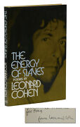 The Energy Of Slaves Signed By Leonard Cohen First American Edition 1973 1st