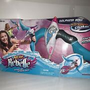 Nerf Rebelle Super Soakers Dolphina Bow Summer Spray Fun Water Toy Pool Gift