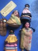 Lot Of Vintage Native American And Other Indian Dolls