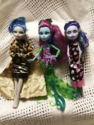 Monster High Doll Lot Of 3 Posea Reef, + 2 More Do Not Have Original Clothes