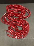 Vintage Antique Red Glass Ball Christmas Garland Japan