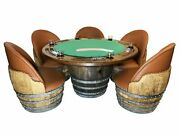 Full Wine Barrel Game Table Table Only - Free Shipping