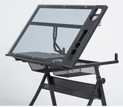 Adjustable Drafting Table Tattoo Stencil Glass Desk Tracing Drawing Work Station