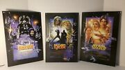 Star Wars Trilogy Movie Promo Metal Tin Wall Signs Approx 9 X 13 Used