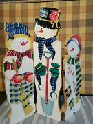 15 Snowman Family Decor Three Sides With Hinges