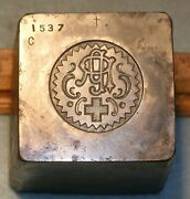 Antique Odd Fellows Grand Representative Medal Stamping Die Mc Lilley