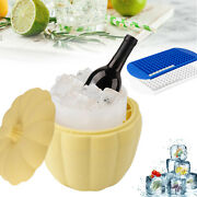 Silicone Ice Cube Mould Pumpkin Ice Bucket Cooler/160grids Square Ice Maker Tray