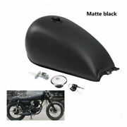 Motorcycle 9l 2.4 Gal Oil Gas Fuel Tank For Suzuki Gn125 Cg 125 Cafe Racer Atv