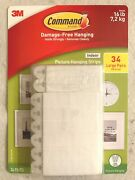 3m Command Picture Hanging Strips Large 34 Pairs 68 Strips Hold 16 Lbs